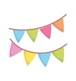 party decoration pennants celebration isolated vector image