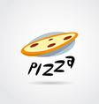 pizza logo design vector image vector image