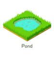pond icon isometric style vector image