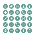 public place navigation icons toilet vector image vector image