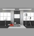 realistic loft interior vector image vector image