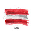 realistic watercolor painting flag of austria vector image
