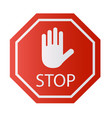 red stop sign isolated on white background vector image vector image
