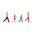 Running family Family sports vector image vector image