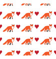 seamless fox background vector image vector image
