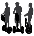 Segway Silhouette vector image