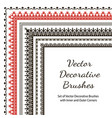 set of decorative brushes vector image