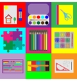 Set of elements for childrens development vector image vector image