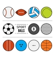 Set of sport balls for games Flat icons sports vector image vector image