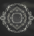 set of vintage chalk frames vector image vector image