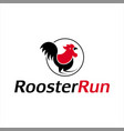 simple abstract cartoon rooster chicken vector image vector image