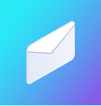 social network e-mail icon vector image