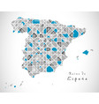 spain map crystal style artwork vector image vector image