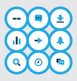 user icons colored set with comment forward vector image vector image