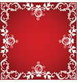 valentine border vector image vector image