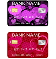 valentine credit card vector image vector image