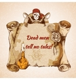 Vintage pirates background vector image vector image