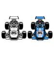 vintage retro formula race car vector image vector image