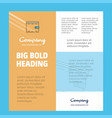wallet business company poster template with vector image