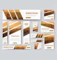 web banners templates with diagonal stripes for vector image vector image