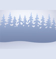 winter forest in the snow flat background vector image vector image