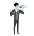 young asian groom making announcement vector image vector image
