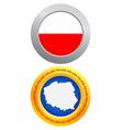 button as a symbol POLAND vector image