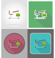 school education flat icons 14 vector image