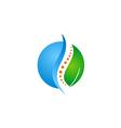 green leaf medic health bone logo vector image