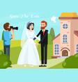 wedding people orthogonal composition vector image