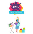 -25 off best discount on vector image vector image