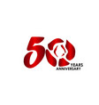 50 year anniversary flower template design vector image vector image