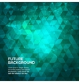Abstract blue and green background with triangles vector image