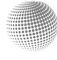 abstract halftone effect 3d sphere vector image