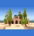 al-aqsa mosque in jerusalem vector image