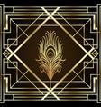 art deco vintage patterns and design elements vector image vector image