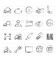 auto service and car part icons vector image vector image