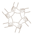 background of hands vector image