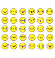 big emotional face icons set kawaiiflat design vector image vector image