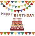 Birthday cake with ten candles Ten years vector image vector image