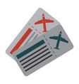 boarding passes icon image vector image vector image