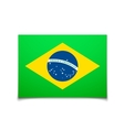 Brazil flag isolated on white vector image vector image