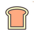 bread icon design for food graphic design element vector image vector image