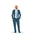 businessman holding hands pocket business man vector image vector image