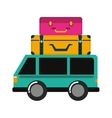 car bus van icon vector image