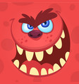 cartoon angry monster vector image vector image