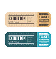 cartoon color mockup template tickets set vector image vector image
