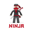 cartoon young ninja vector image vector image