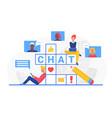 chat word crossword cartoon internet user vector image