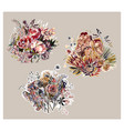 colorful design flower art painting decoration vector image